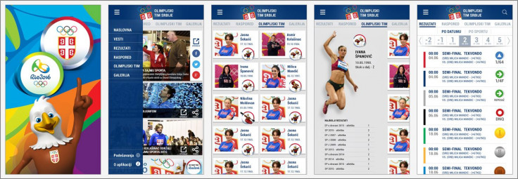 "Mobile app desined for <a href=""https://play.google.com/store/apps/details?id=rs.org.oks.olimpijskitimsrbije"" target=""_blank"">Olympic Team of Serbia</a> for Rio 2016 Olympic Games"