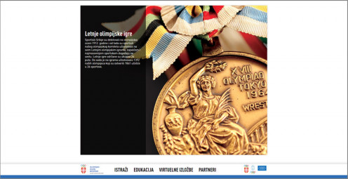 "Web site designed for <a href=""http://olimpijskimuzej.rs/"" target=""_blank"">Olympic Museum Belgrade</a>"