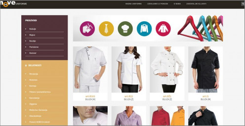 "Responsive web site designed and developed for <a href=""http://noveuniforme.com/"" target=""_blank"">New Uniforms fashion house</a>"